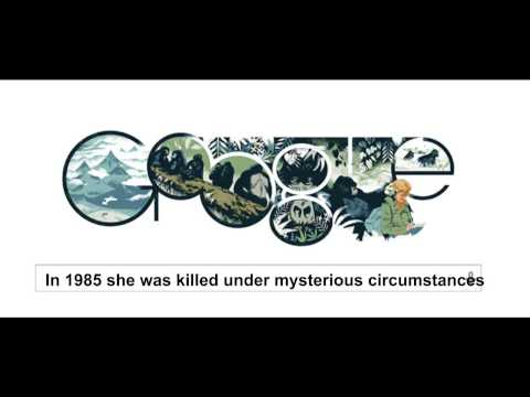 82th Birthday of Dian Fossey - Google Doodle [16 January 2014]
