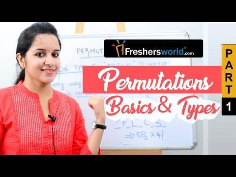 Aptitude Made Easy - Permutations Part 1 – Basics and Types, Math tricks