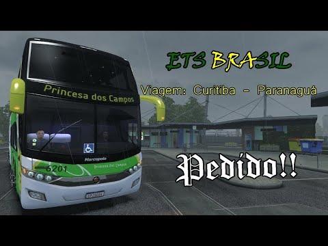 (PEDIDO) CURITIBA - PARANAGUÁ | ETS 2 BUS MOD PRINCESA DOS CAMPOS