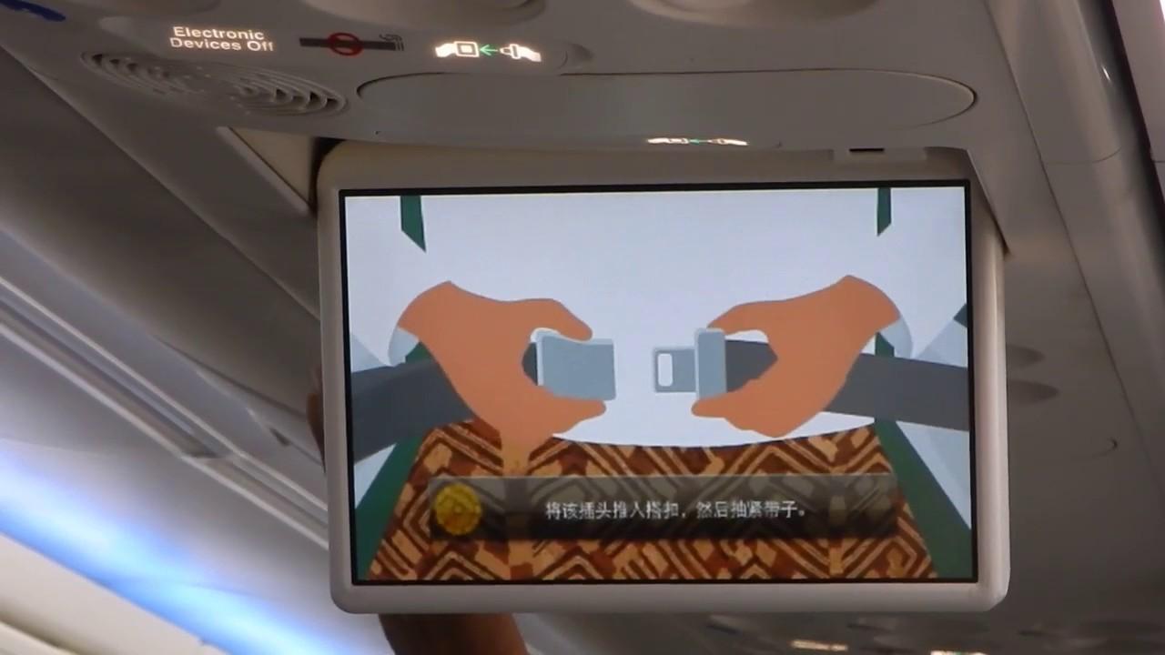 ミャンマーナショナル航空 機内...
