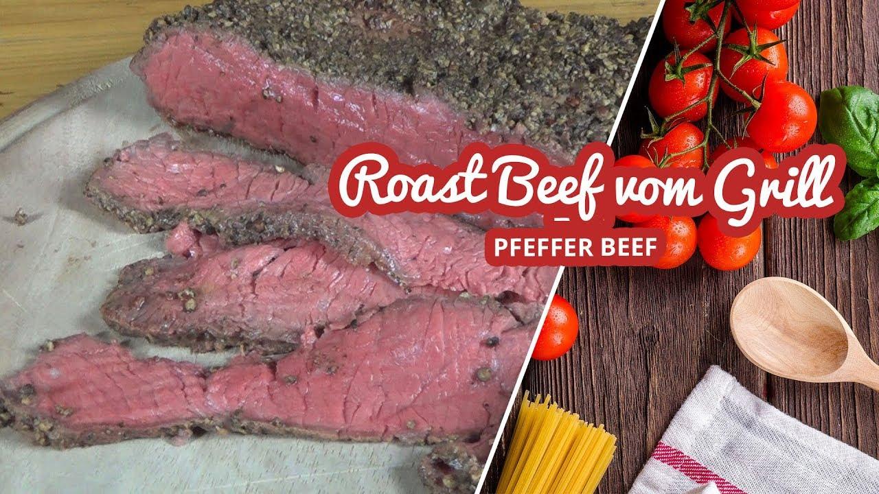 Roast Beef Pfefferbraten Vom Weber Kugel Grill Art Of Bbq Youtube