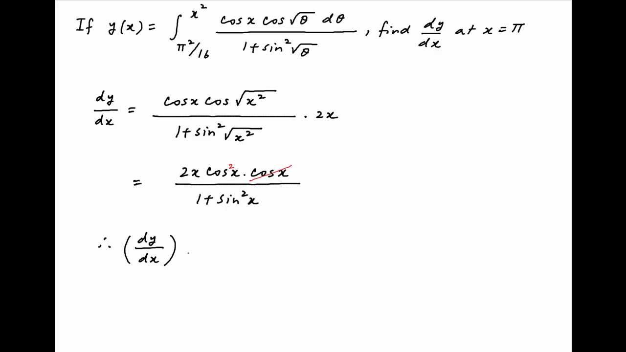 �9ᢹ�9f�x�r[��x��_Findthevalueofthederivativeofywithrespecttoxatx=PI.-YouTube