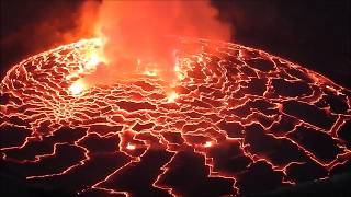 Nyiragongo is a beautiful stratovolcano that features the world's largest lava lake. volcano's forested lower slopes are home to variety of animals, in...