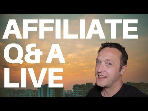 AFFILIATE MARKETING WITH WORDPRESS LIVE Q&A