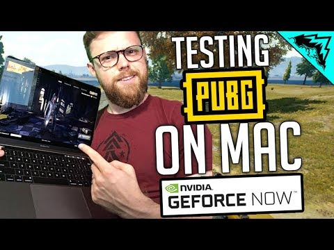 "PUBG on MAC - Gameplay & Highlights w/ ""NVIDIA Geforce NOW"" on Macbook"