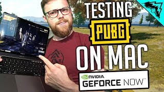 "PUBG on MAC - ""NVIDIA Geforce NOW"" on Macbook - Gameplay & Highlights"