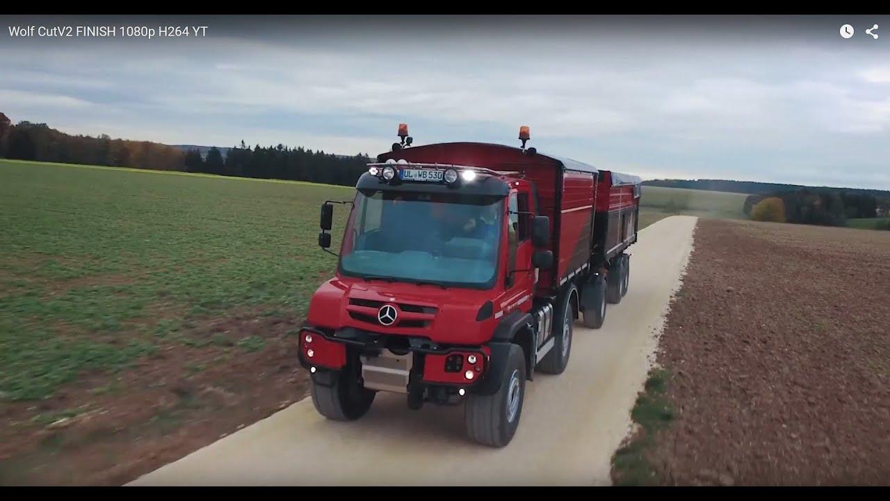 Mercedes Benz Unimog Beim Agrarbetrieb Wolf Youtube