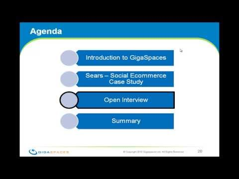 Gigaspaces RoadShow - Sears Case Study