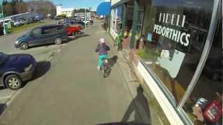 Spring break bike riding in Port Hardy B.C.