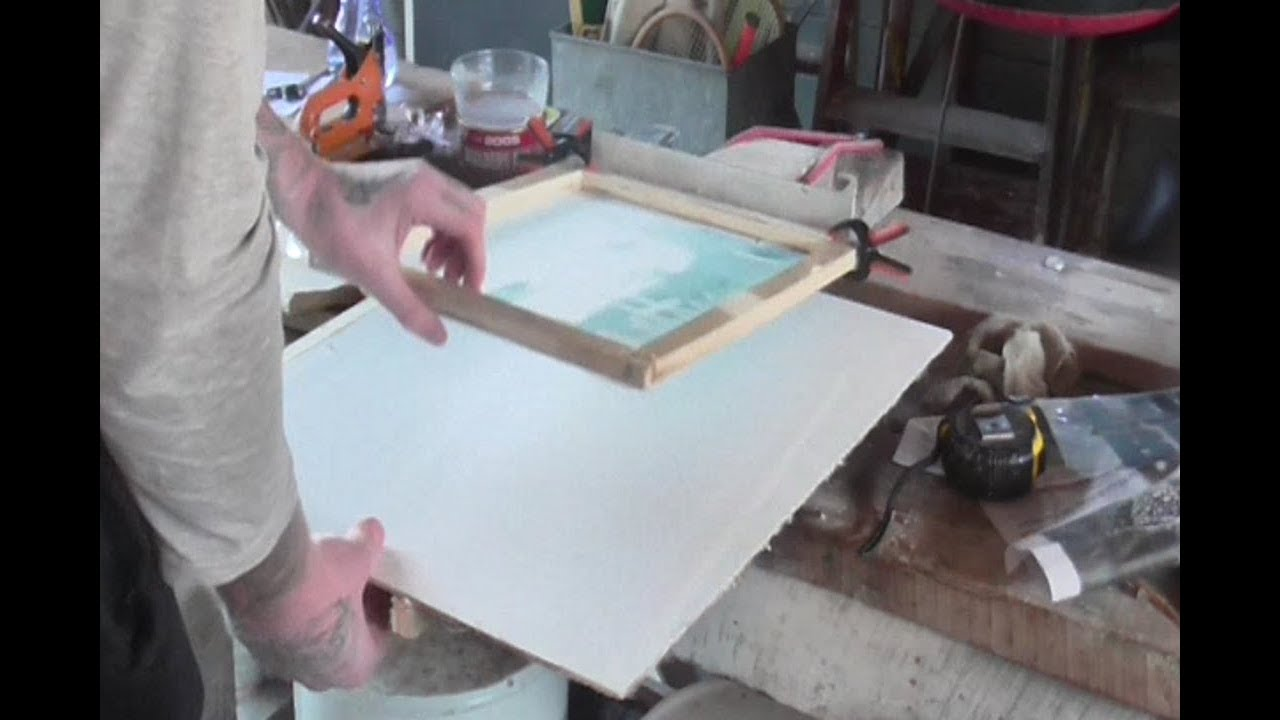 How To Build A Diy Single Color Silk Screen Printing Station Feltmagnet Crafts