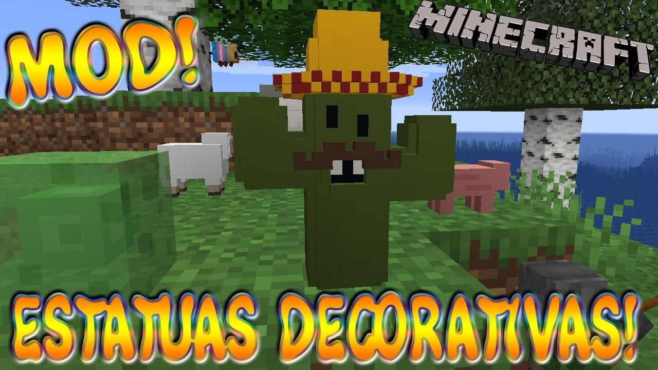ESTATUAS DECORATIVAS! Minecraft 1.16.5 MOD STATUES!