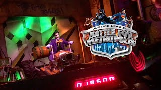 Justice League Battle for Metropolis Shooting Dark Ride Six Flags Great Adventure Full Onride POV