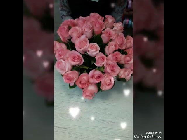 Букет с 31 розовой розой