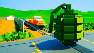 LEGO GRENADE VS TRAIN!!! Brick Rigs