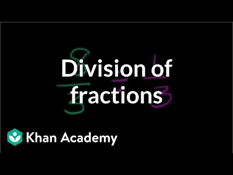 Understanding Division Of Fractions | Fractions | Pre-Algebra | Khan Academy