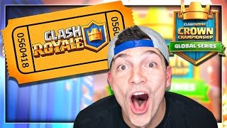 THIS DECK WON MY TICKET! Clash Royale Crown Championship