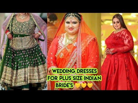 Wedding Dresses For Plus Size Indian Bride S Fat Women Bridal