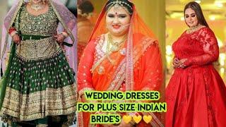 Wedding Dresses For Plus Size Indian Bride S Fat Women Bridal Saree Plus Size Clothing Youtube
