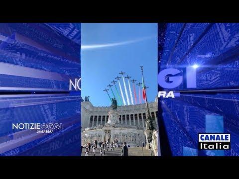 2 Giugno 2020 - Le Frecce Tricolori sorvolano l'Altare della Patria.