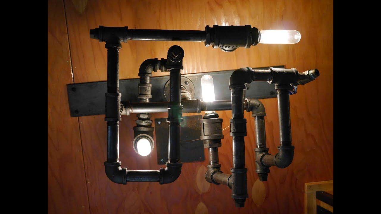DIY STEAMPUNK-DieselPunk Modern Lamp/Light- w/recycled ...