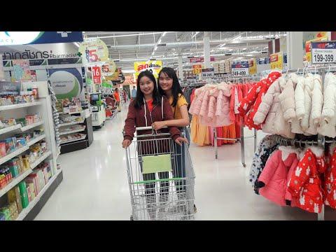 #สาวลาวเที่ยวไทย1:พาน้องสาวนั่งเรือข้ามฟากเที่ยวเมืองมุกดาหารครั้งแรก เลาะชื้อของอยู่บิกชี ||ທ່ຽວໄທ