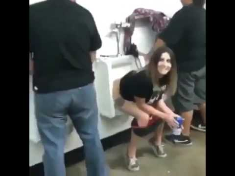 Peeing in mens toilets