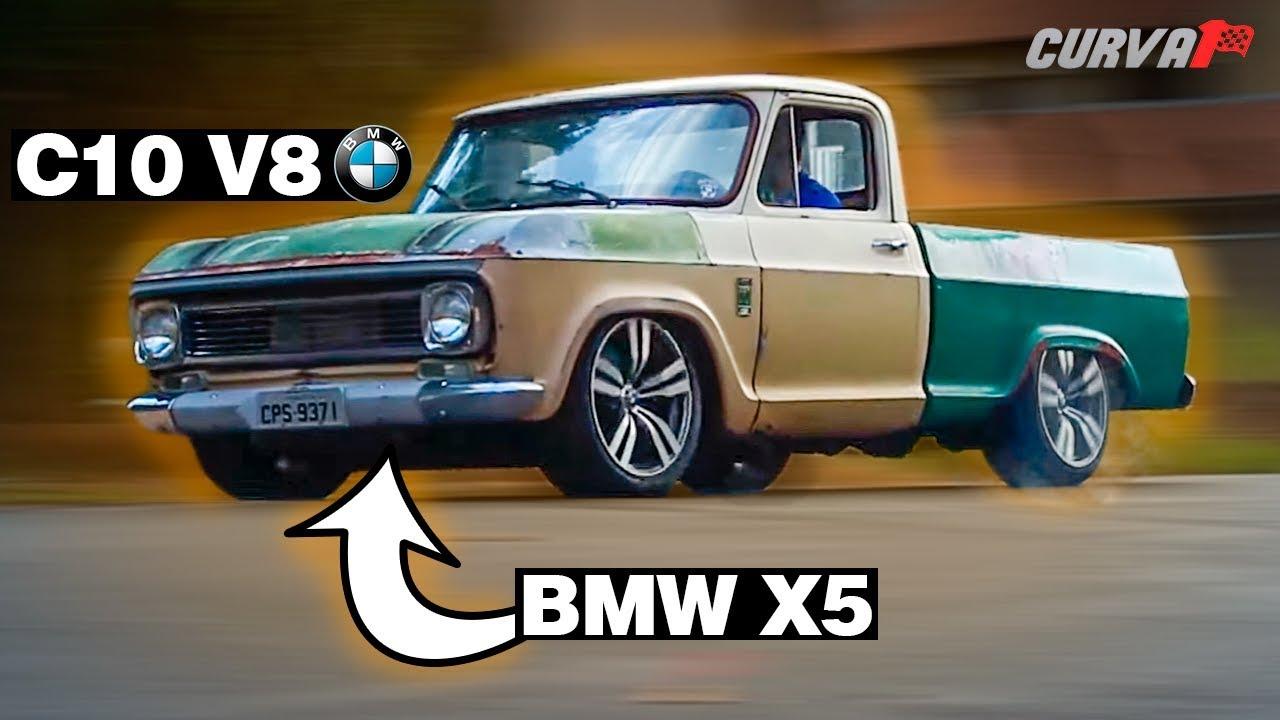 C10 COM MOTOR DE BMW X5 V8 MONSTRUOSA - YouTube