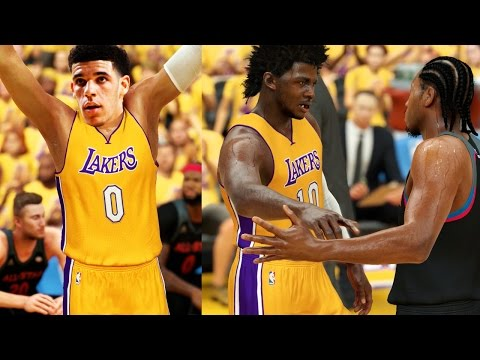 2017 NBA Draft Rookies VS NBA All Stars! NBA 2K17 CHALLENGE