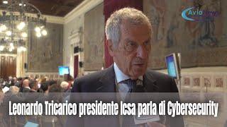 Leonardo Tricarico presidente Icsa parla di Cybersecurity