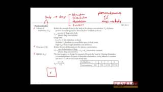 First Aid for the USMLE Step 1, PHARMACOLOGY + 02 = Pharmacokinetics (Clearance, Vd)