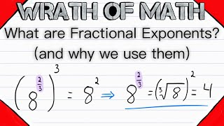 What are Fractional Exponents? (and wнy we use them) | Rational Exponents, Exponent Rules