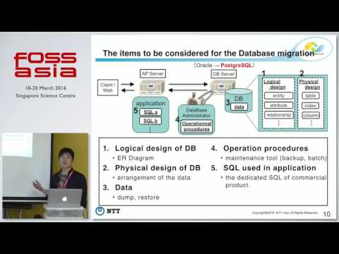 Migration from Oracle to PostgreSQL - The problems and the solutions -  FOSSASIA Summit 2016