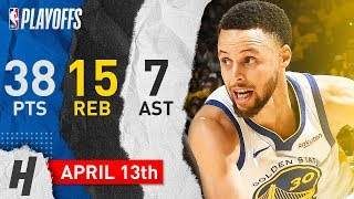 Stephen Curry MAKES HISTORY! Game 1 Highlights vs Clippers 2019 NBA Playoffs - 38 Pts, 15 Reb, EPIC!
