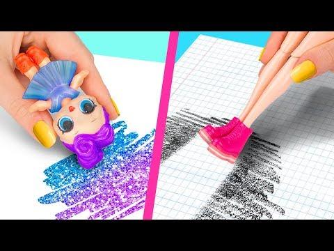 10 Formas Extraas De Escabullir Barbies a Clase / Locos Trucos Para Tu Barbie y Mueca LOL Surprise
