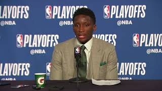 Victor Oladipo Postgame Interview   Pacers vs Cavaliers - Game 7   April 29,   2018 NBA Playoffs