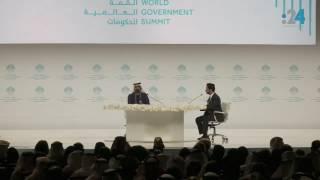 الجلسة الحوارية مع الشيخ محمد بن راشد (كاملة) في القمة العالمية للحكومات