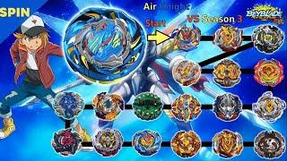 【Air Knight VS ALL Season 3】 marathon Beyblade Burst Cho-Z 【에어 나이트 VS 올시즌3】 마라톤배틀 베이블레이드 버스트 초제트
