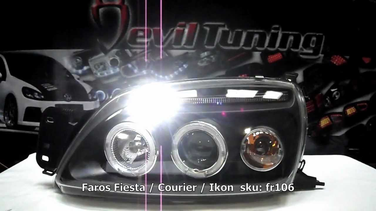 Fr106 faros ford fiesta ikon courier devil tuning youtube sciox Images