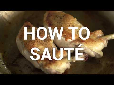How to Sauté- All-Clad Cookware & The Culinary Institute of America
