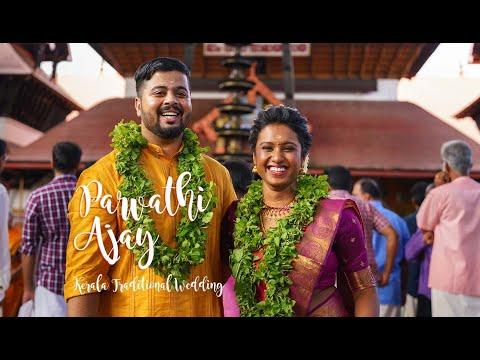 Parvathi & Ajay Kerala Traditional Hindu Wedding In Guruvayur