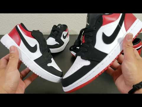 1c2947f82ea8 Air Jordan 1 Low ( Gym Red   Black Toe) - On feet - YouTube