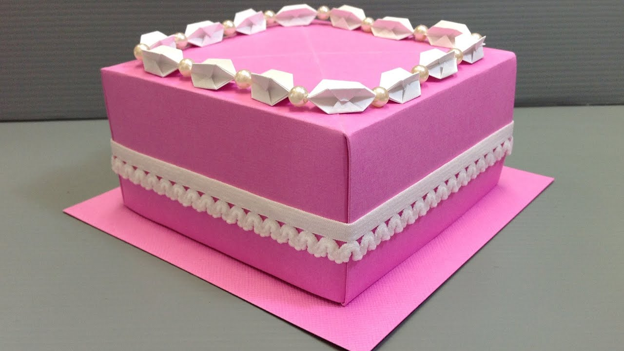 Origami Wedding Birthday Cake Display Gift Box Youtube