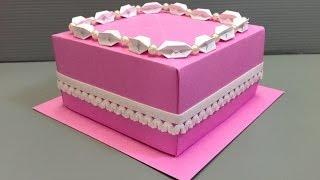 Origami Wedding Birthday Cake Display Gift Box