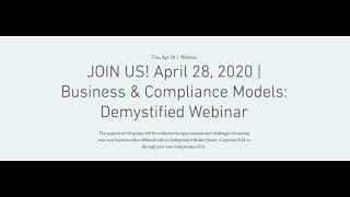 FPA Miami   Business & Compliance Models: Demystified Webinar