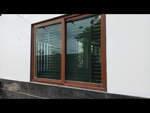 Upvc aluminium wooden window frame and it's design
