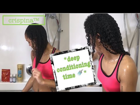Download my deep conditioning routine for dry hair | crispina