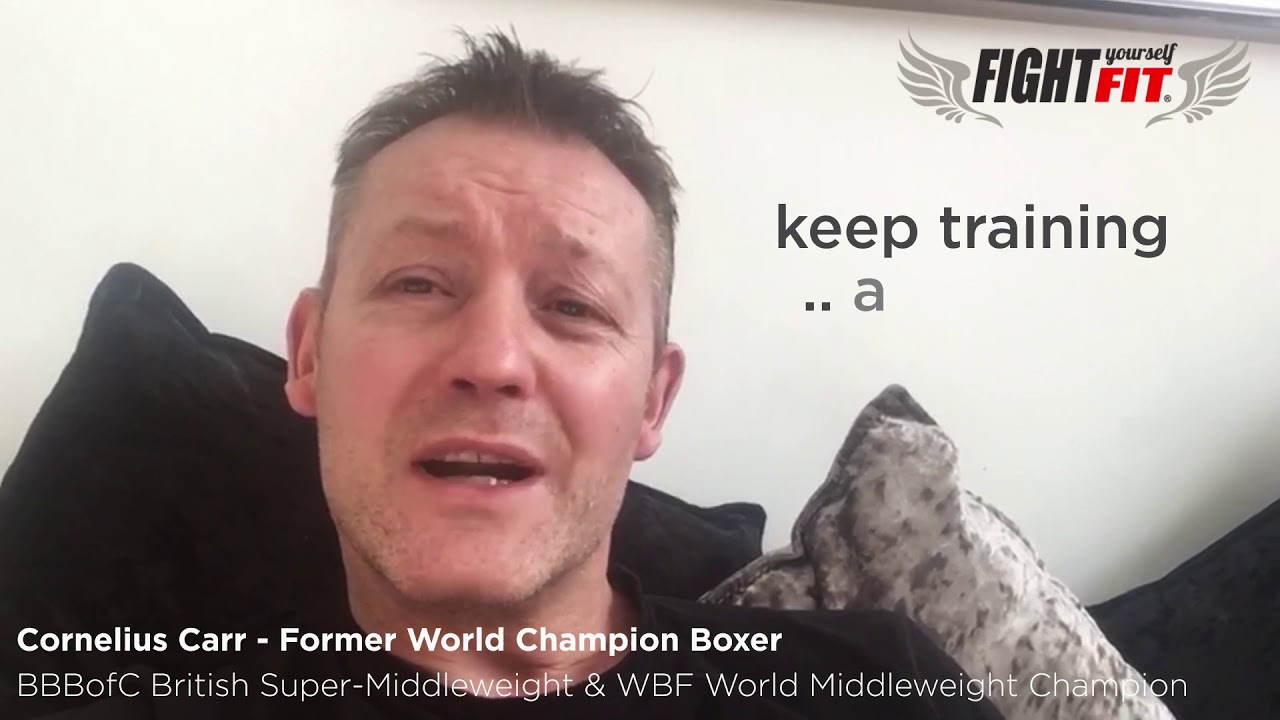 Boxing Home Workouts - Message from Corney