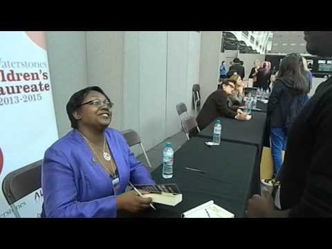Finally meeting author, Malorie Blackman of Noughts and Crosses
