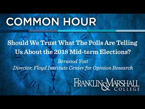 Common Hour: Should We Trust What The Polls Are Telling Us About the 2018 Mid-term Elections?
