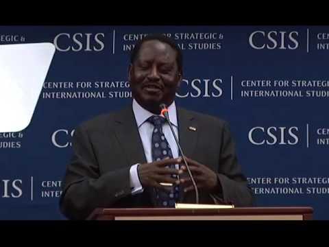 Statesmen's Forum Raila Odinga, Prime Minister of Kenya